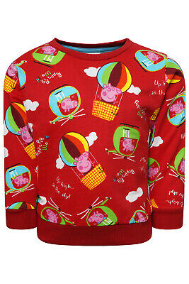 Kids Girls Boys Peppa Pig George Pig Jumper Sweater Sweatshirt Xmas Gift New