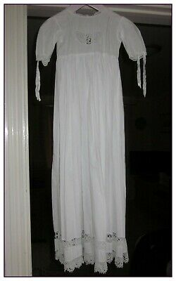 Vintage Baby's Gown In White, Suitable For Sleep Or Possibly Christening.