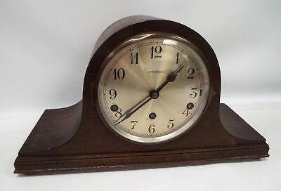 Vintage HENDERSONS Wooden Mantle Clock - Spares/Repairs - F20