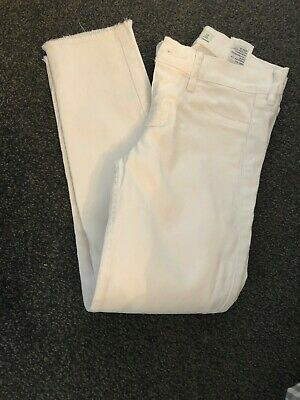 Girls Abercrombie & Fitch cropped jeans white A&F age 14 years