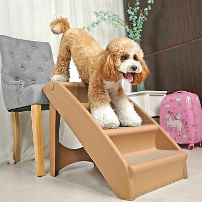 Dog Steps 4 Steps for High Bed Pet Stairs Small Dogs Cats Ramp Ladder Foldable