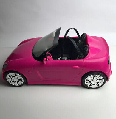Barbie Glam Convertible Pink Car Doll Mattel Vehicle Toy Seats Barbie And Ken