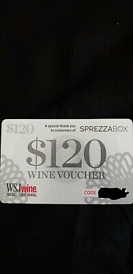 $120 Usd Never Been Used Wsj Wines Voucher/Will Send Code Through Email
