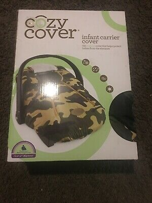 Cozy Cover Infant Carrier Cover Baby Car Seat Cover Green Camo (Free Shipping)