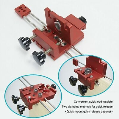 Woodworking Puncher Adjustable Drill Guides Punching Locator Dowelling Jig Kits