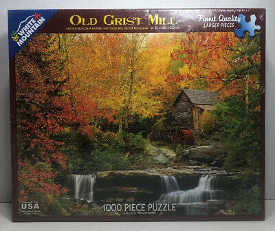 White Mountain Puzzles Old Grist Mill Landscape 1000 piece