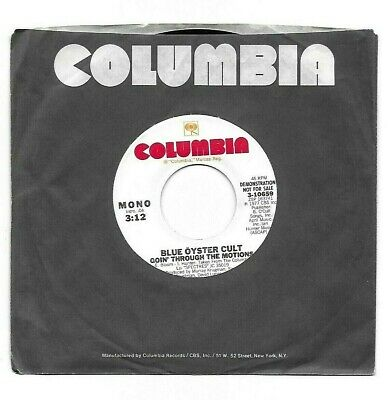 """BLUE OYSTER CULT-""""GOIN' THROUGH THE MOTIONS""""-PROMO-Columbia 3-10659 EX+ 1977"""