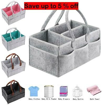 Baby Diaper Organizer Caddy Felt Changing Nappy Storage Carrier Bag Portable