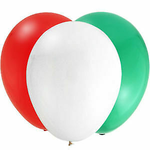 inch Merry Christmas 2pcs Santa Red Green White Air/Helium Latex Balloon