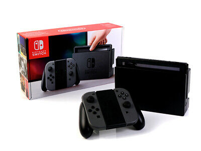 (R) Nintendo SWITCH Konsole - 32GB - SCHWARZ-GRAU + JoyCons + Dockingstation
