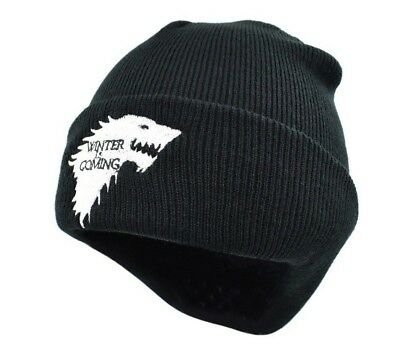 Game Of Thrones Warm Knitted Beanie Skullies House Of Stark Winter is Coming Hat