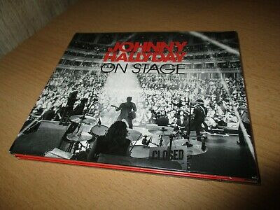 Johnny Hallyday-Collector cd digipack-On stage+message de johnny signé- (2013)