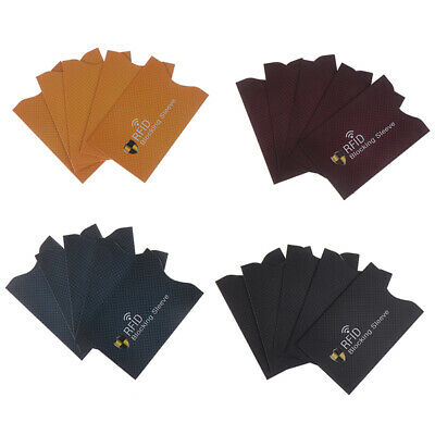 5Pcs RFID Anti Theft for Credit Card Protector Blocking Cardholder Sleeve I2