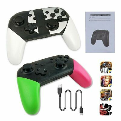 Wireless Pro Controller Gamepad Bluetooth For Switch Super Smash Bros Stablely