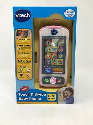 Baby Girl Toy Phone Touch Swipe Learning Educational Toddler Music Infant Pink