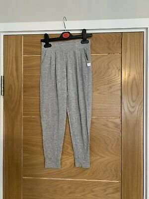 Girls Grey Cotton Lounge Trousers From The White Conpamy - Age 5-6 Years