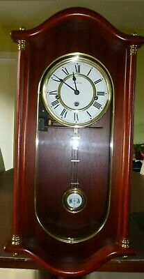 Hermle Mechanical Regulator Wall Clock - mahogany - Westminster Chime