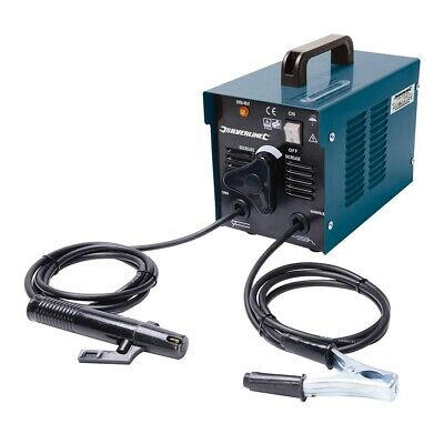 Silverline 677293 40-100A Mma Arc Welder With Electrode Holder And Welding Mask
