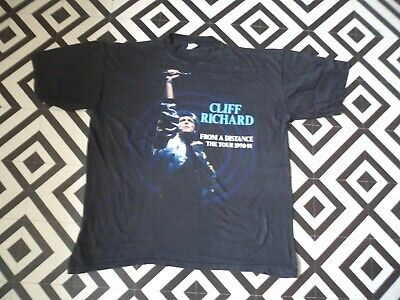 Mens 1990-91 Vintage Cliff Richard From A Distance  Tour T Shirt Good  Con Xl
