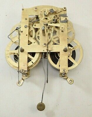 Antique R&J Clock Co Pittsfield Mass Kitchen Parlor Clock Movement Parts Repair