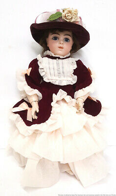 Antique Victorian Bru Jne Jeune French Signed Bisque Porcelain HP 19.5in Doll