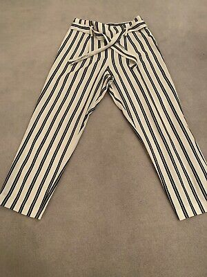 Girls River Island Stripey Trousers Age 11 Years