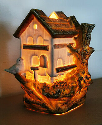 Victorian Dovecote Fairy Lamp Candle Oil Night Light Dovecot Doocot