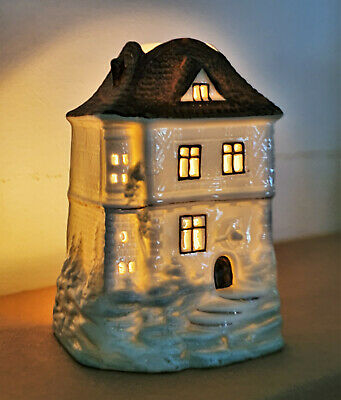 Victorian House Cottage Fairy Lamp Candle Oil Night Light