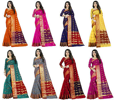 Saree Indian Sari Designer Silk Pakistani Wear Party Wedding Sc Blouse Fancy