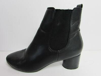 NEXT Ladies Black Mid Heel Pull On Ankle Boots Size 6.5 EU 40 VGC