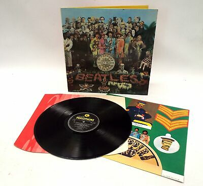 THE BEATLES 'Sgt Pepper's Lonely Hearts Club Band' Vinyl LP + Inners MONO - B56