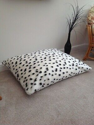 Beanbag Floor Cushion Filled B&W Dalmatian Faux Fur Large 3cf Size Luxurious