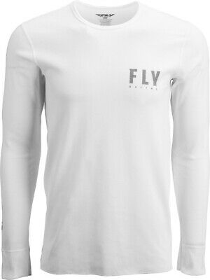 Fly Racing 2020 Adult Thermal Shirt White/Grey All Sizes