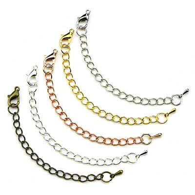 50PCS 70mm Link Chain Tail Extender Jewelry Finding Necklace Bracelet Craft D !