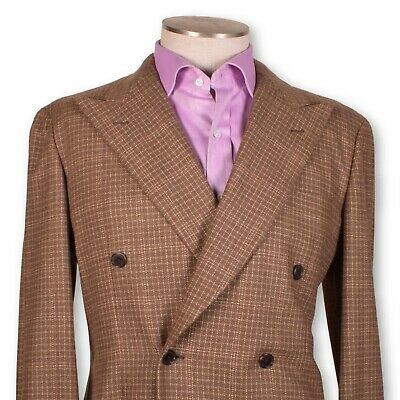NWT BELVEST Brown-Gold Pure Cashmere UNLINED Double Breasted Sportcoat 40 40r