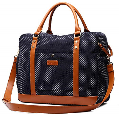 Overnight Travel Bag Weekender Carry On Luggage Canvas Gear Women Duffel Tote