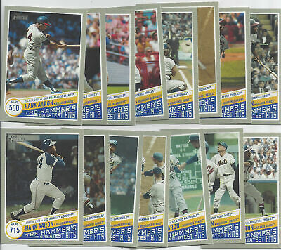 2019 Topps Heritage High Number Hank Aaron The Hammers Greatest Hits 15 Card Set