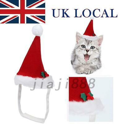 Christmas Hats for Dogs Pet Cat Xmas Red Holiday Costume Santa Hat Cap Quality