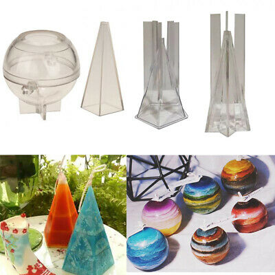 DIY Candle Molds Candle Making Plastic Mould Handmade Soap Molds Clay Craft New