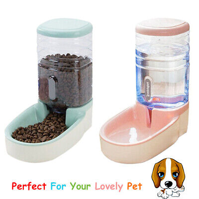 3.8L Automatic Pet Feeder Dog Cat Food Water Dispenser Drinking Bowl Bottle GY