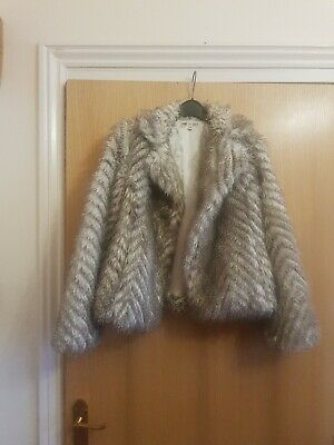 Girls Faux Fur Jacket Age 11-12 Years, from Marks & Spencer Autograph,