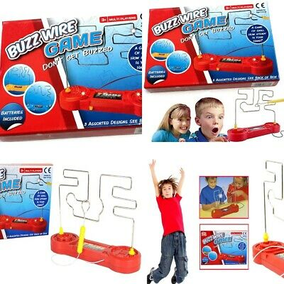 Wire Nerve Buzz Steady Hand Game Kids Childrens Adults Skill Maze Office Fun New