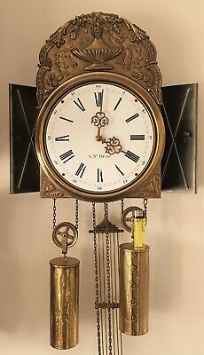 Jewellers Wall Clock Comtoise Style Hermle, A St Severin , Bell Strike, Pendulum