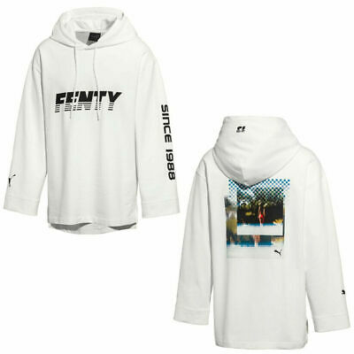 Puma Fenty x Rihanna Womens Long Sleeve Graphic Hoodie Dress Navy 575873 01 R14E