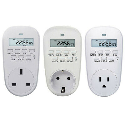 Electronic Digital Timer Switch Programmable Timing Countdown Controller Socket