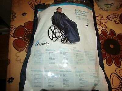 New, Simplantex, Deluxe Wheely,Mac Lined (Unsleeved) Wheel Chair Cover. Size M