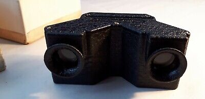 Rare 1950s STEREAX 35mm Slide Cast Metal Viewer. Boxed. Mid-20C Photography Gift