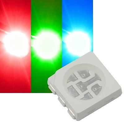 20x LED RGB SMD 5050 3-Chip SOP 6 Rosso Verde Blu HighPower SMDs FULLCOLOR LED