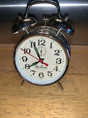 Very Rare vintage antique Bentima Alarm Clock mechanical
