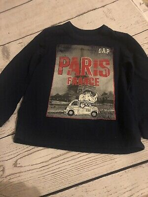 Boys Gap Blue Long Sleeve T-Shirt Top Age 2 Years Immaculate Condition